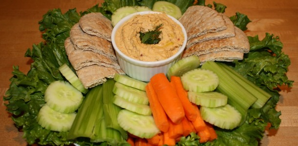 Hummus Heat with Pitas & Vegetables