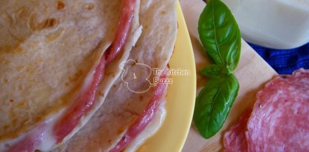 Salami Mozzarella Quesadilla