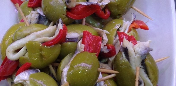 Olives,Peppers,Sardines